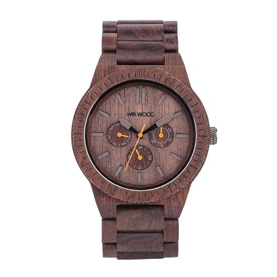 【ペアウォッチ】 WEWOOD ウィーウッド 正規品 腕時計ナチュラルウッド ハンドメイドカッパチョコレートカッパブラックwewood-9818028wewood-9818029