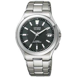 シチズン CITIZEN ウオッチラインナップ WATCH LINEUP アテッサ ATTESA エコ・ドライブ電波 メンズ 腕時計 電波時計 atd53-2841 シルバー×ブラック 黒