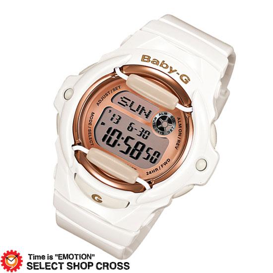 【名入れ・ラッピング対応可】 【3年保証】 腕時計 ブランド Baby-G ベビーG カシオ CASIO レディース キッズ 子供 デジタル Pink Gold Series BG-169G-7JF ホワイト 白/ピンクゴールド 国内モデル
