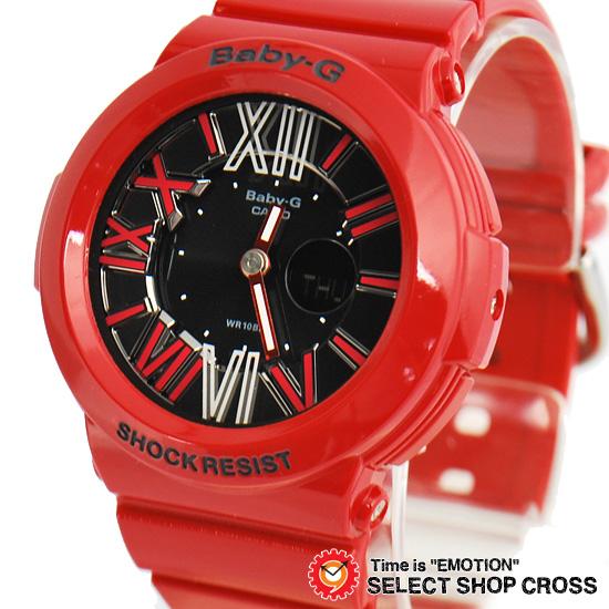 【名入れ対応】 【3年保証】 カシオ 腕時計 CASIO BABY-G NEON DIAL SERIES ベビーG BGA-160-4B ネオンダイアルシリーズ レディース キッズ 子供 時計 ブランド アナデジ BGA-160-4BDR レッド 赤 海外モデル カシオ 腕時計 【あす楽】