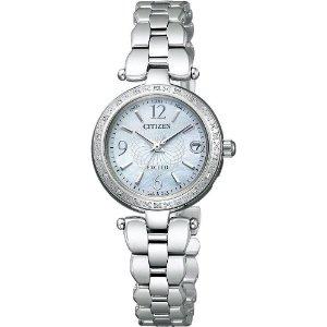 シチズン CITIZEN ウオッチラインナップ WATCH LINEUP エクシード EXCEED エコ・ドライブ電波 レディース 腕時計 ブランド 電波時計 es8000-59w シルバー×ホワイト 白