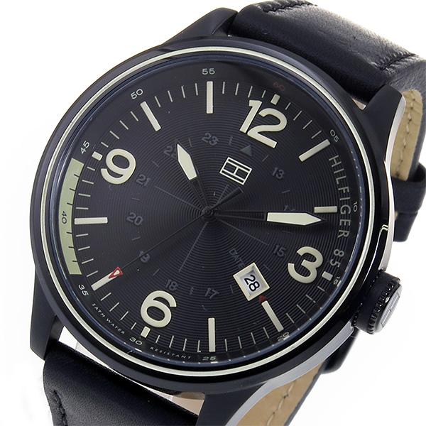トミー ヒルフィガー TOMMY HILFIGER クオーツ メンズ 腕時計 1791103 ブラック