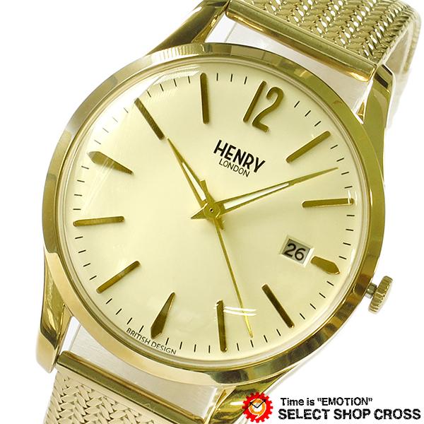 ヘンリーロンドン HENRY LONDON ウェストミンスター WESTMINSTER メンズ レディース ユニセックス 38mm 腕時計 ブランド HL39-M-0008 アイボリー/イエローゴールド