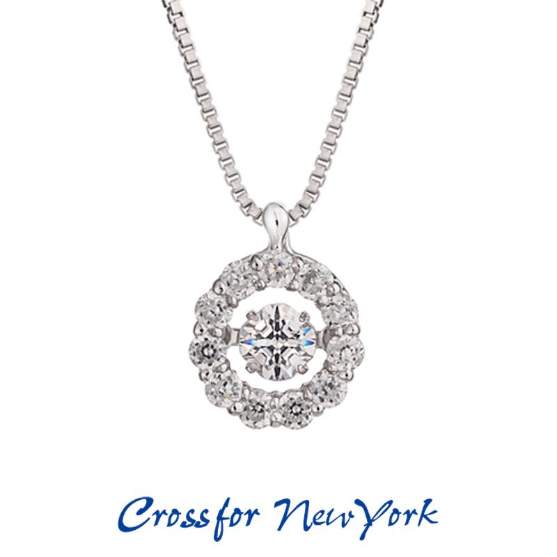 クロスフォー Crossfor ニューヨーク レディース ネックレス Twinkle Flower1 NYP-507 ダンシングストーン