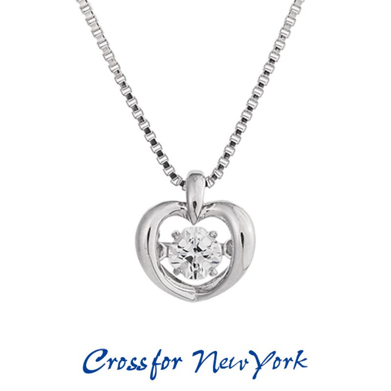クロスフォー Crossfor ニューヨーク レディース ネックレス Twinkle Heart NYP-509 ダンシングストーン