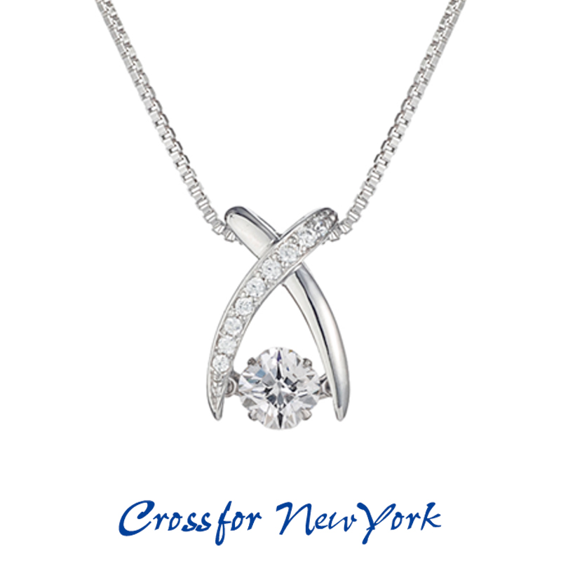 クロスフォー Crossfor ニューヨーク レディース ネックレス Jupiter NYP-550 ダンシングストーン