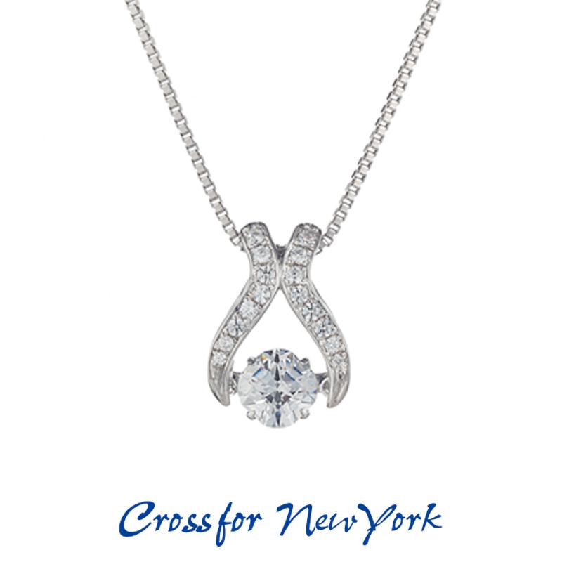 クロスフォー Crossfor ニューヨーク レディース ネックレス Venus NYP-551 ダンシングストーン