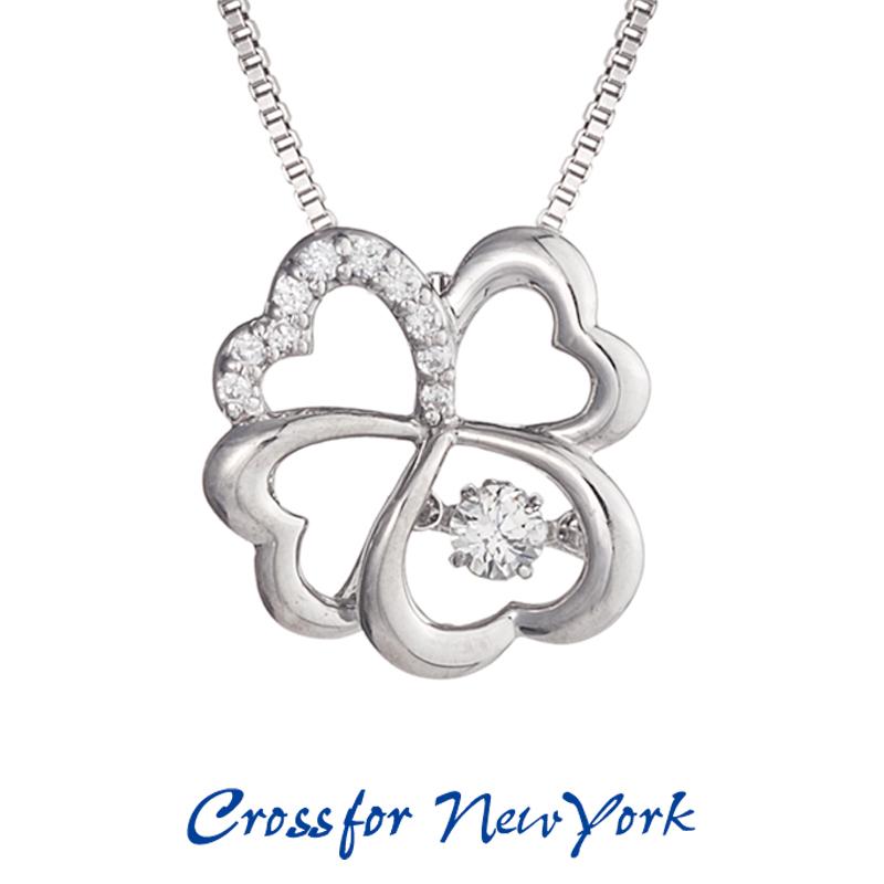 クロスフォー Crossfor ニューヨーク レディース ネックレス K.C NYP-565 ダンシングストーン