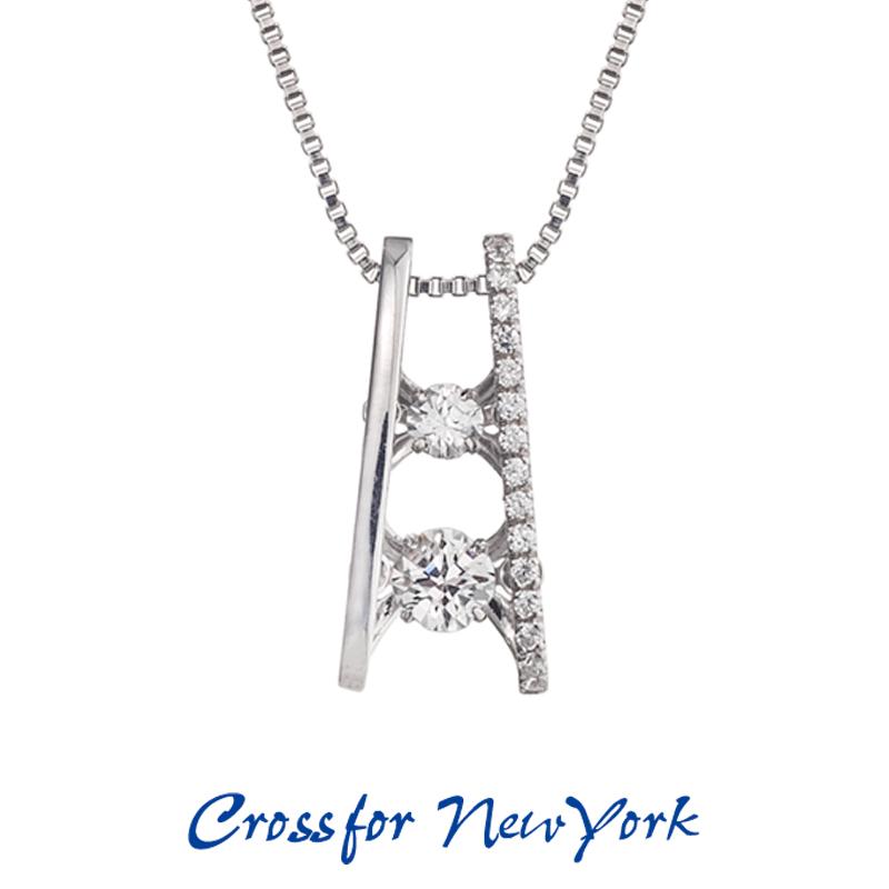 クロスフォー Crossfor ニューヨーク レディース ネックレス K.B NYP-566 ダンシングストーン