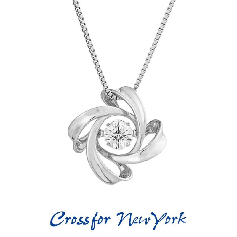 クロスフォー Crossfor ニューヨーク レディース ネックレス Spiral 1 NYP-599 ダンシングストーン