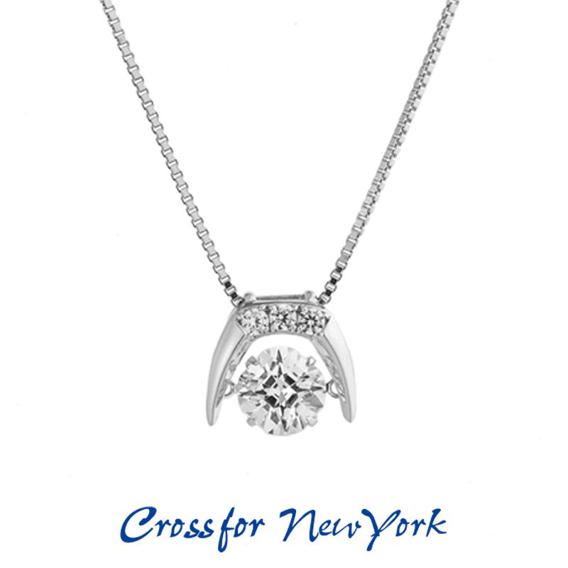 クロスフォー Crossfor ニューヨーク レディース ネックレス Tusk NYP-603 ダンシングストーン