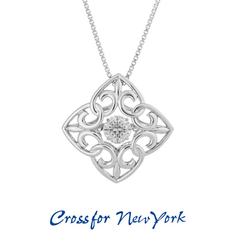 クロスフォー Crossfor ニューヨーク レディース ネックレス Sweetheart NYP-612 ダンシングストーン