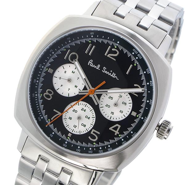 ポールスミス PAUL SMITH アトミック ATOMIC クオーツ メンズ 腕時計 P10043 ブラック