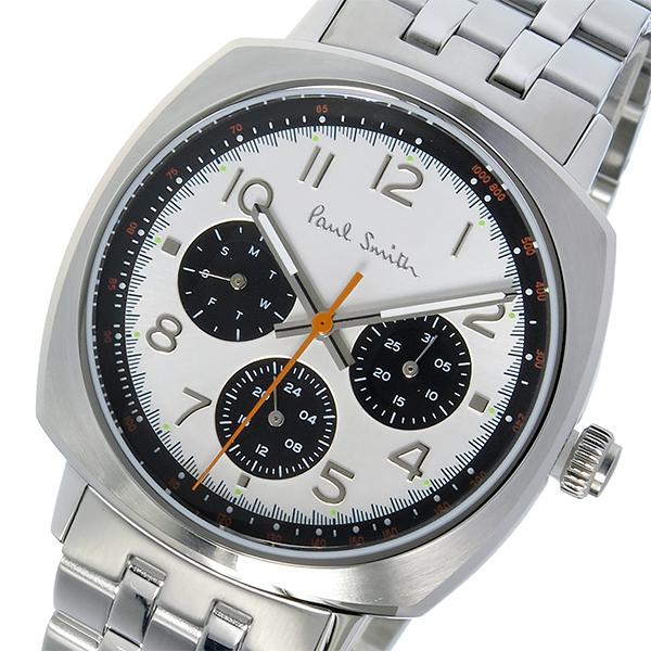 ポールスミス PAUL SMITH アトミック ATOMIC クオーツ メンズ 腕時計 P10044 ホワイトシルバー
