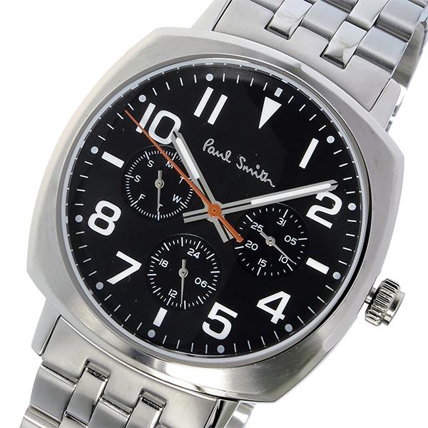 ポールスミス PAUL SMITH アトミック ATOMIC クオーツ メンズ 腕時計 P10046 ブラック