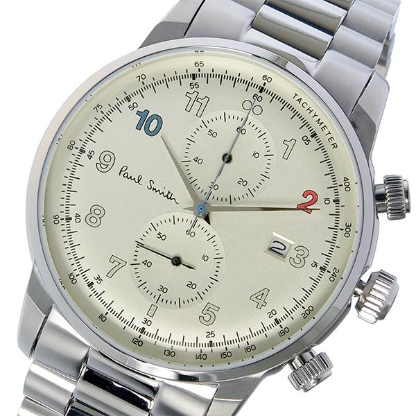 ポールスミス PAUL SMITH ブロック クロノ クオーツ メンズ 腕時計 P10142 シャンパンゴールド