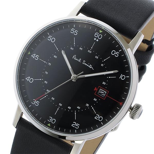ポールスミス PAUL SMITH ゲージ GAUGE クオーツ メンズ 腕時計 P10071 ブラック