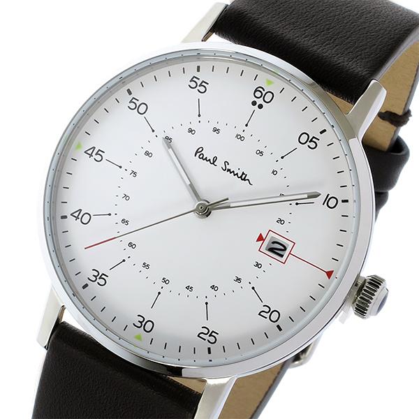 ポールスミス PAUL SMITH ゲージ GAUGE クオーツ メンズ 腕時計 P10072 ホワイト