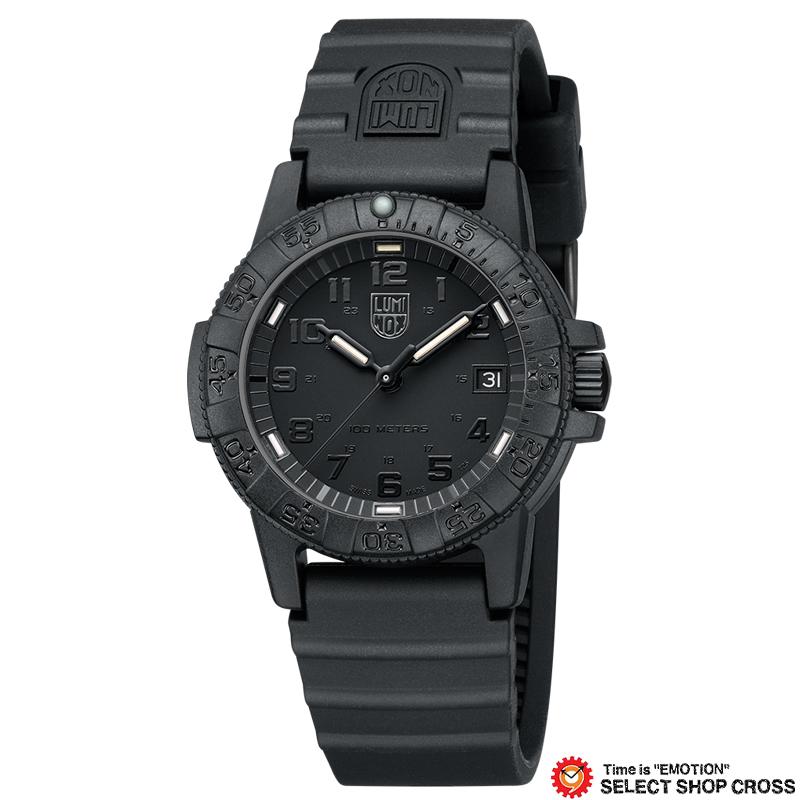 ルミノックス LUMINOX 腕時計 ブランド レザーバック シータートル SEA TURTLE メンズ レディース ユニセックス Ref.0301.BO ブラックアウト 0301 Blackout 【あす楽】