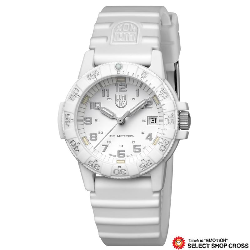 ルミノックス LUMINOX 腕時計 ブランド レザーバック シータートル SEA TURTLE メンズ レディース ユニセックス Ref.0307.WO ホワイトアウト 0307 Whiteout 【あす楽】