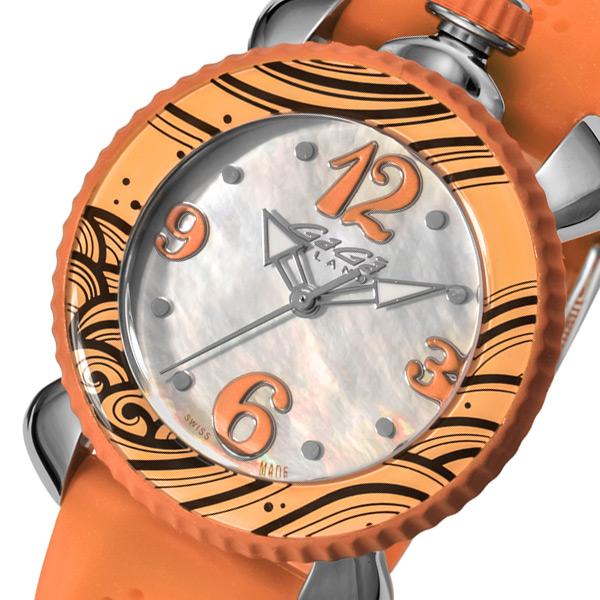 ガガ ミラノ GAGA MILANO レディ スポーツ レディース 腕時計 ブランド 702005 ホワイトパール/オレンジ
