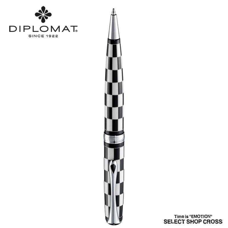 ディプロマット DIPLOMAT ボールペン Excellence A エクセレンス エー Roma Black White ローマ ブラックホワイト 1957135 正規品 名入れ