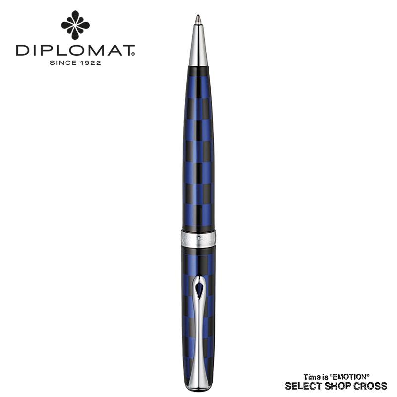 ディプロマット DIPLOMAT ボールペン Excellence A エクセレンス エー Roma Black Blue ローマ ブラックブルー 1957196 正規品 名入れ
