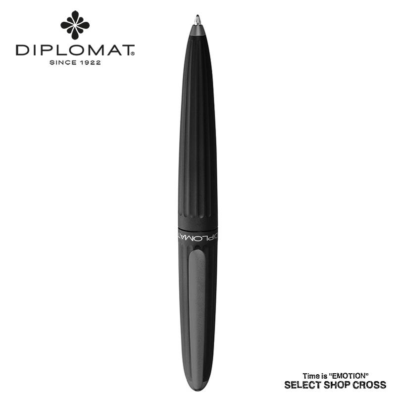 ディプロマット DIPLOMAT ボールペン Aero アエロ Black ブラック 1957225 正規品 名入れ