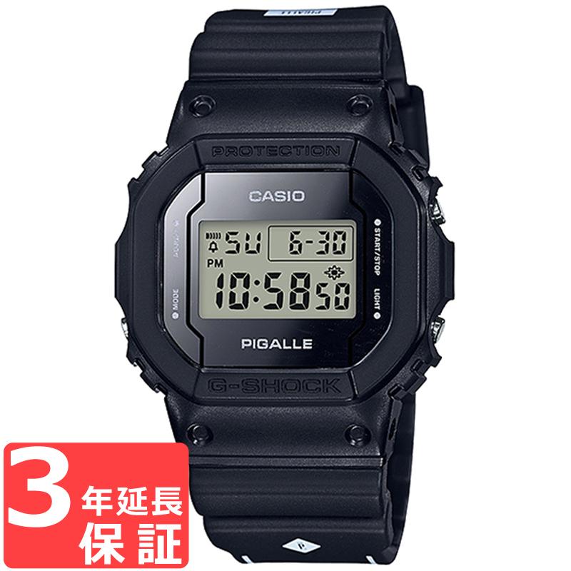 【3年保証】 カシオ CASIO ピガールスペシャルコラボレーションモデル G-SHOCK×PIGALLE メンズ ブラック 腕時計 DW-5600PGB-1DR 海外モデル 【あす楽】