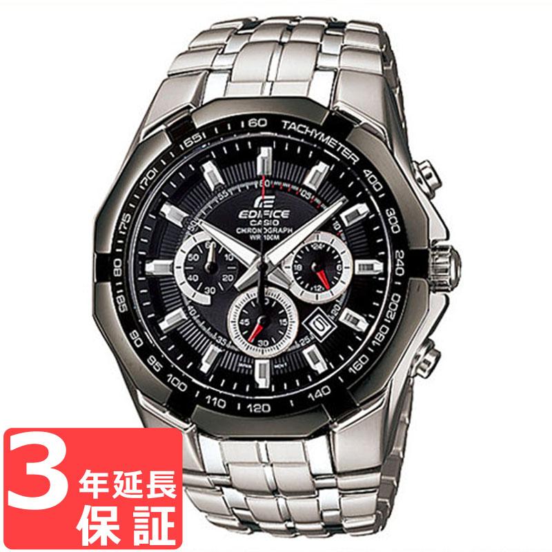 【名入れ対応】 【3年保証】 カシオ CASIO エディフィス EDIFICE クロノグラフ EF-540D-1A 腕時計 メンズ アナログ 防水 シルバー ブラック 【あす楽】
