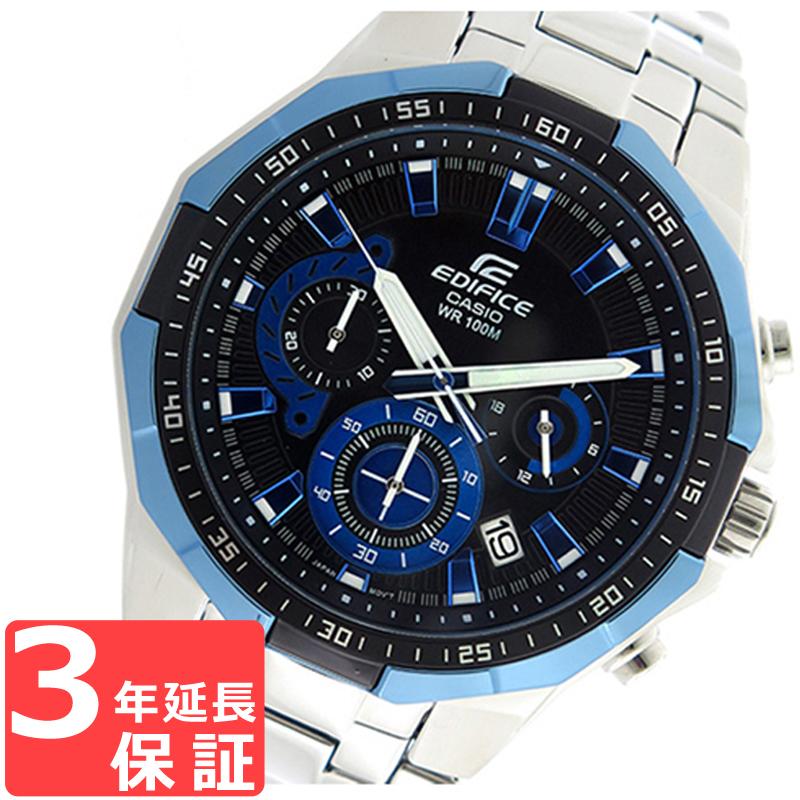 【無料ギフトバッグ付き】 【名入れ対応】 【3年保証】 カシオ CASIO エディフィス EDIFICE クロノグラフ クオーツ メンズ 腕時計 EFR-554D-1A2V ブラック/ブルー