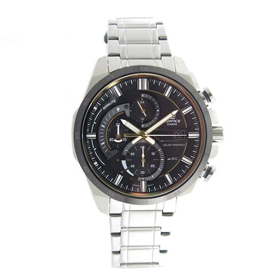 【名入れ対応】 【3年保証】 カシオ CASIO エディフィス EDIFICE ソーラー クロノグラフ クオーツ メンズ 腕時計 EQS-600DB-1A9 ブラック 【あす楽】