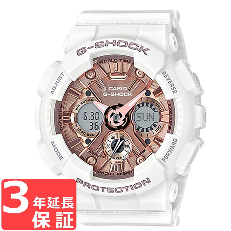【名入れ対応】 【3年保証】 カシオ CASIO Gショック G-SHOCK ジーショック Sシリーズ メンズ 腕時計 GMA-S120MF-7A2DR ホワイト/ピンクゴールド 【あす楽】