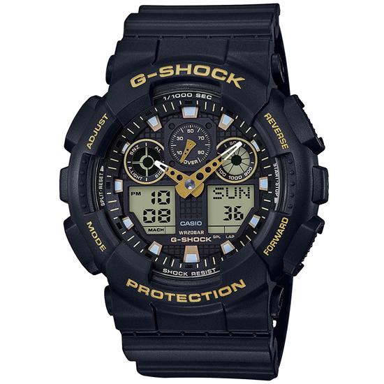 【名入れ対応】 【3年保証】 CASIO カシオ G-SHOCK ジーショック 腕時計 メンズ アナデジ アナログ デジタル GA-100GBX-1A9 ブラック×ゴールド