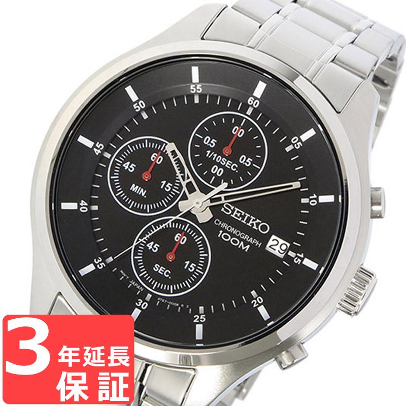 【3年保証】 セイコー SEIKO 時計 クロノグラフ クオーツ メンズ 腕時計 おしゃれ SKS539P1 ブラック 海外モデル 【3年保証】 セイコー SEIKO 腕時計
