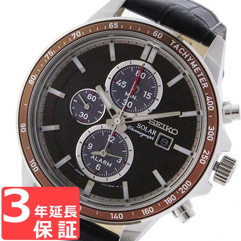 【3年保証】 セイコー SEIKO 時計 クロノグラフ ソーラー メンズ 腕時計 おしゃれ SSC503P1 ブラウン 海外モデル 【3年保証】 セイコー SEIKO 腕時計