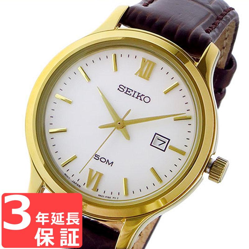 セイコー SEIKO クラシック クオーツ レディース 腕時計 SUR702P1 ホワイト 海外モデル