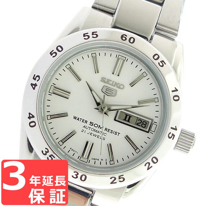 【3年保証】 セイコー SEIKO 時計 セイコー5 SEIKO 5 自動巻き レディース 腕時計 おしゃれ SYMG35K1 ホワイト 海外モデル 【3年保証】 セイコー SEIKO 腕時計