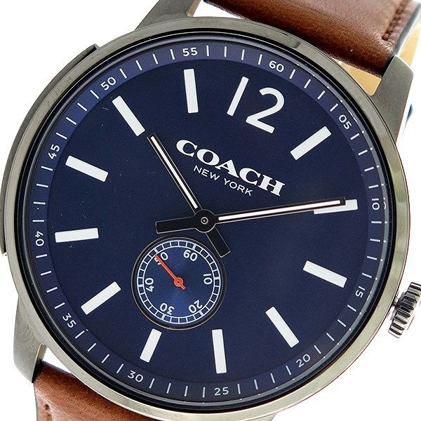 コーチ COACH ブリーカー Bleecker クオーツ メンズ 腕時計 14602083 ネイビー/ブラウン