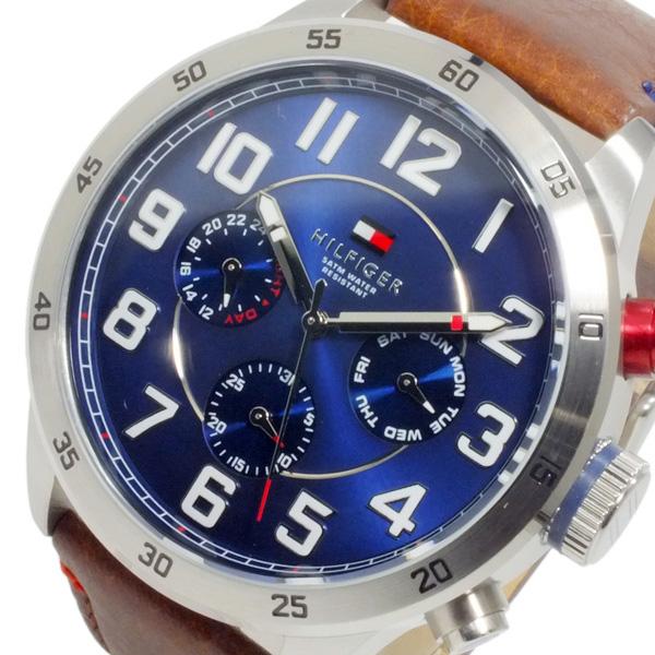 トミー ヒルフィガー TOMMY HILFIGER メンズ クオーツ 腕時計 1791066 ネイビー