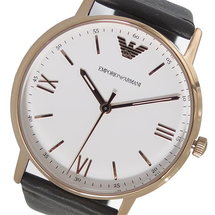 エンポリオ アルマーニ 時計 EMPORIO ARMANI 腕時計 クオーツ メンズ AR11011 ホワイト エンポリオ アルマーニ 時計