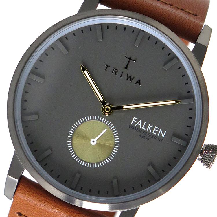 トリワ TRIWA クオーツ ユニセックス 腕時計 FALKEN FAST102-CL010213 グレー / ブラウン 【あす楽】