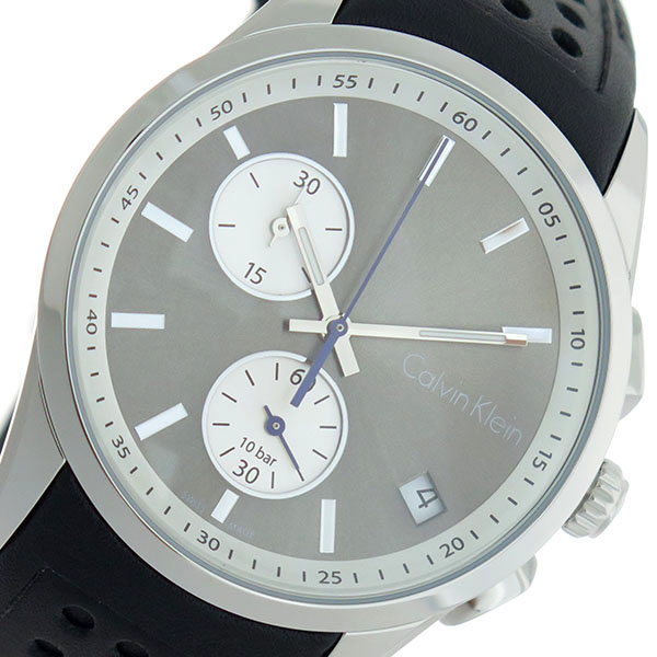カルバンクライン 時計 CalvinKlein 腕時計 カルバン クライン 腕時計 Calvin Klein 時計 bold ボールド クオーツ メンズ K5A371.C3 グレー/シルバーカルバンクライン 腕時計
