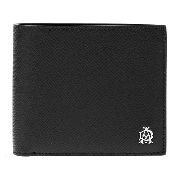 ダンヒル DUNHILL メンズ 二つ折り 短財布 L2AC32A ブラック