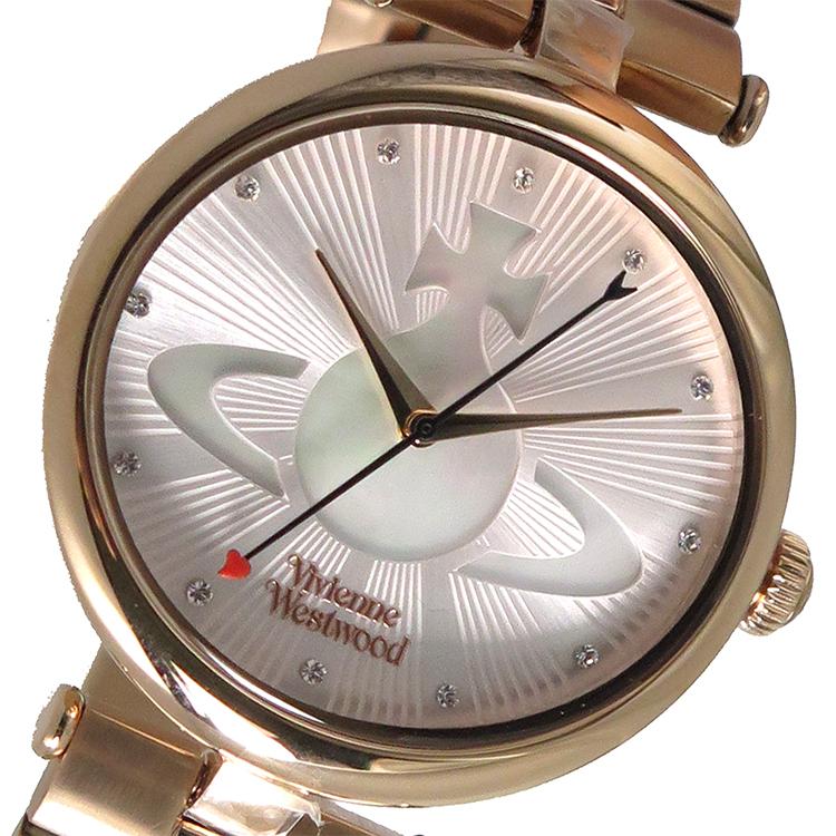 ヴィヴィアン ウエストウッド Vivienne Westwood クオーツ レディース 腕時計 VV184LPKRS ピンクベージュ/シェル