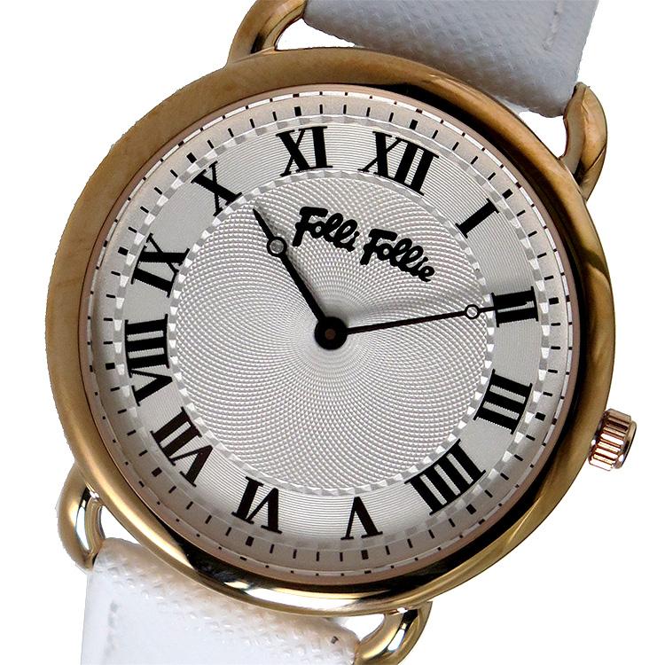 フォリフォリ FOLLI FOLLIE クオーツ レディース 腕時計 WF16R013SPS-WH シルバー
