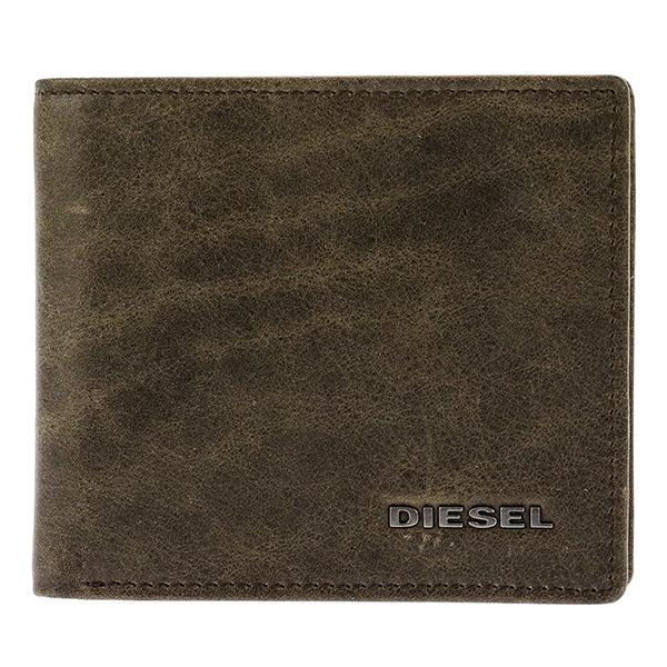 ディーゼル DIESEL メンズ 二つ折り 短財布 X03363-P1075-H6184 ブラウン