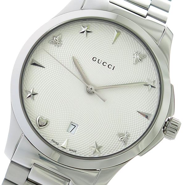 グッチ GUCCI Gタイムレス クオーツ 腕時計 YA1264028 オフホワイト/シルバー