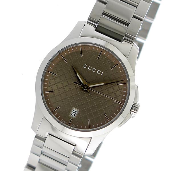 グッチ GUCCI Gタイムレス クオーツ レディース 腕時計 YA126594 ブラウン
