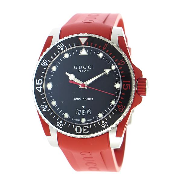 グッチ GUCCI ダイヴ クオーツ メンズ 腕時計 YA136309 ブラック